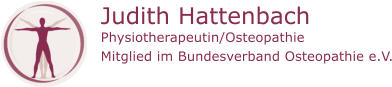 Judith Hattenbach Physiotherapeutin/Osteopathie Mitglied im Bundesverband Osteopathie e.V.